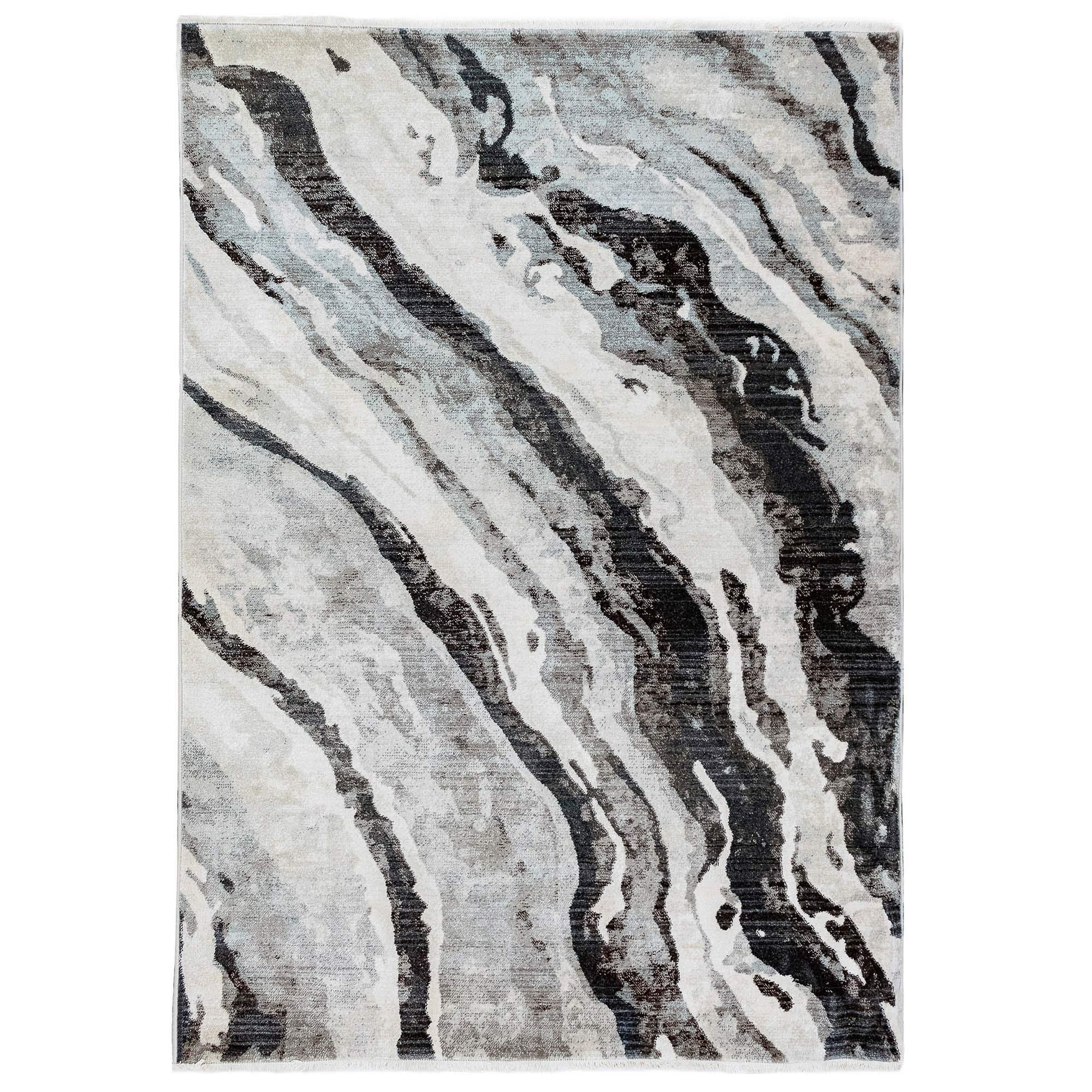M by Liora B906/47 Classic Weave Canyon Rug, 4'11''X7'5'', Grey