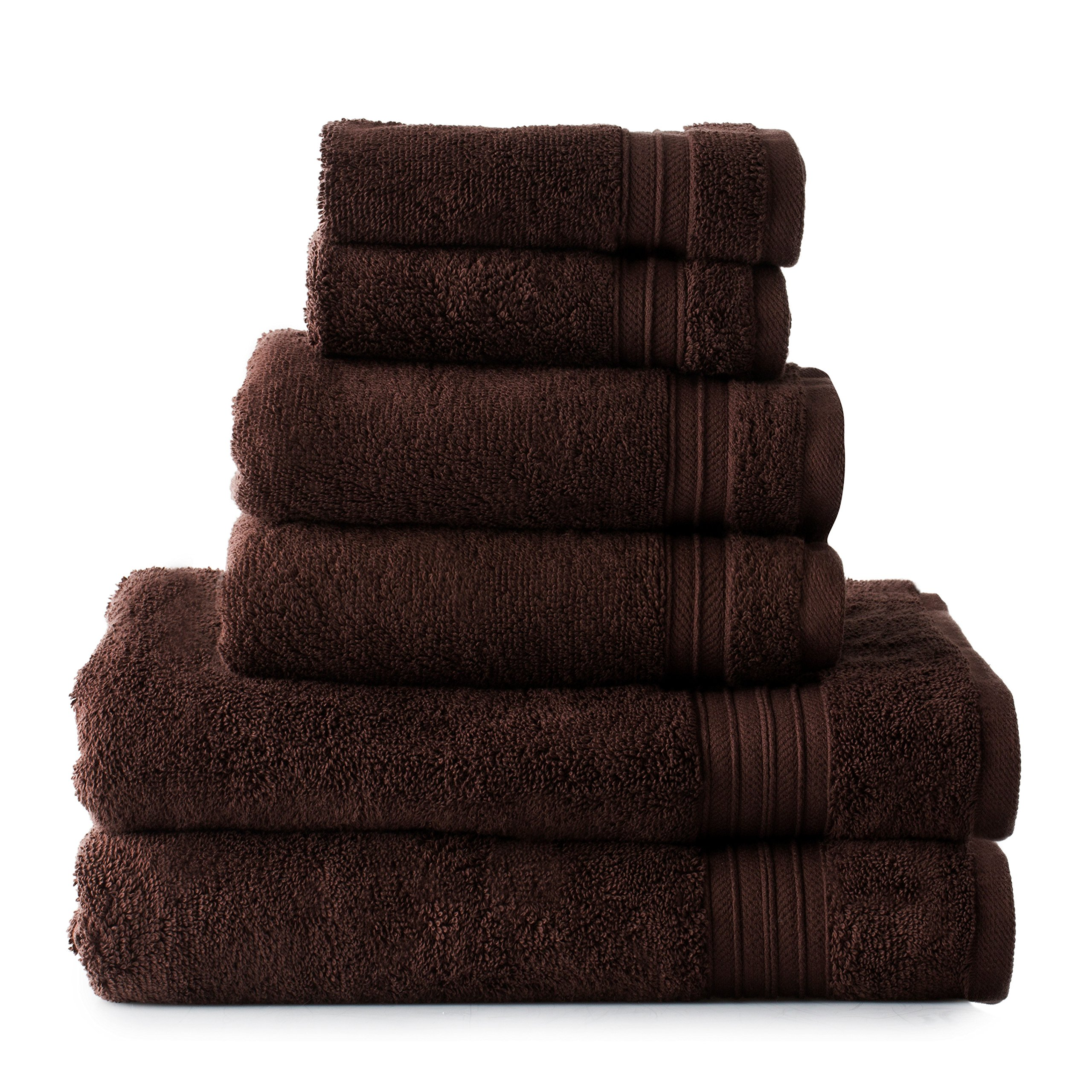 Welspun HygroSoft Fast Drying and Absorbent 100% Cotton 6-piece Towel Set, Java