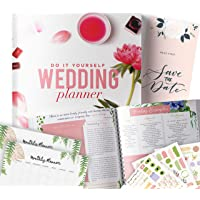 DIY Wedding Planner | Step-By-Step Binder to Organize Your Dream Day Using Stickers, Photos & Pictures | Planning Journal to Organize A Wedding by Yourself | Gift for Brides |
