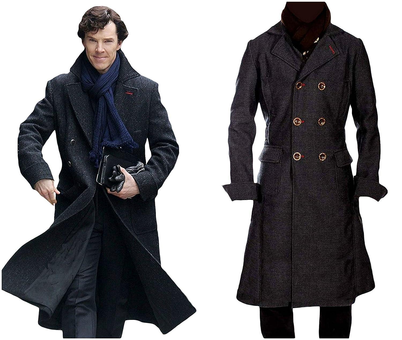 a4d5a6338d Sherlock Holmes Benedict Cumberbatch Classic Trench Coat