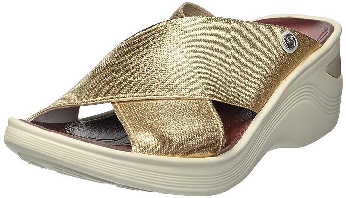 BZees Womens Desire Fabric Open Toe Casual Platform Sandals