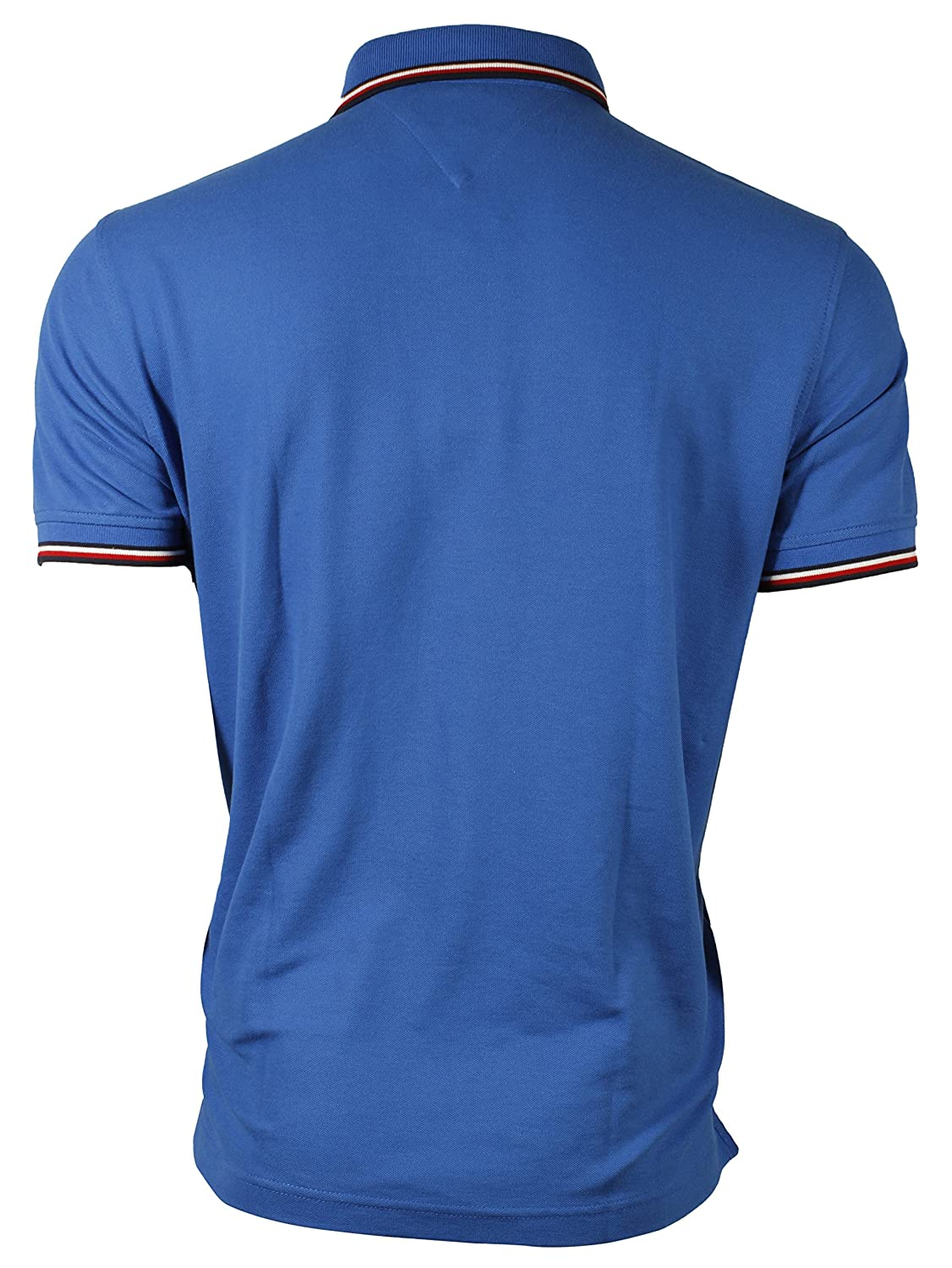Tommy Hilfiger Mens Striped Collar Polo