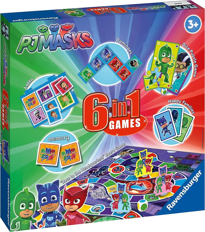 Ravensburger PJMasks, 6 en 1 Juegos: Amazon.es: Juguetes y juegos