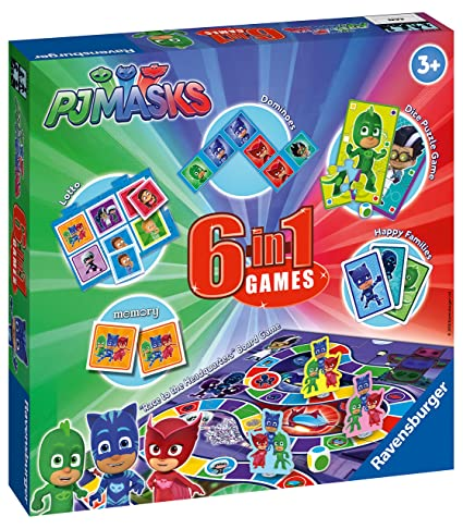 Amazon.com: Ravensburger PJ Masks, 6 in 1 Games: Toys & Games