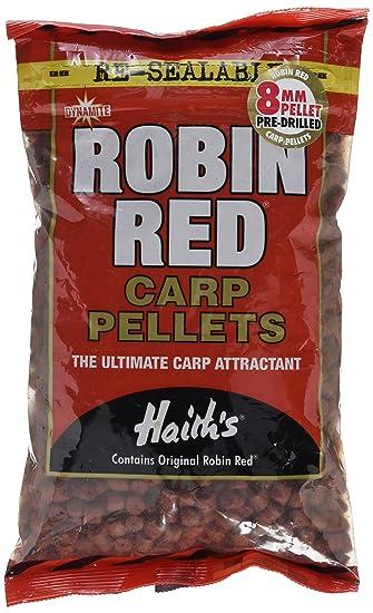 Gr Carp Bait   Dynamite Baits Robin Red Carp Pellets Pre Drilled 0 Size 900 Gr