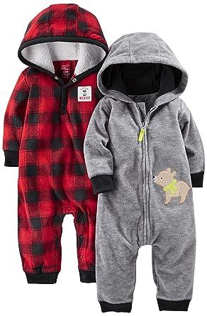 859a34049 Amazon.com  Simple Joys by Carter s Baby Boys  2-Pack Fleece Hooded ...