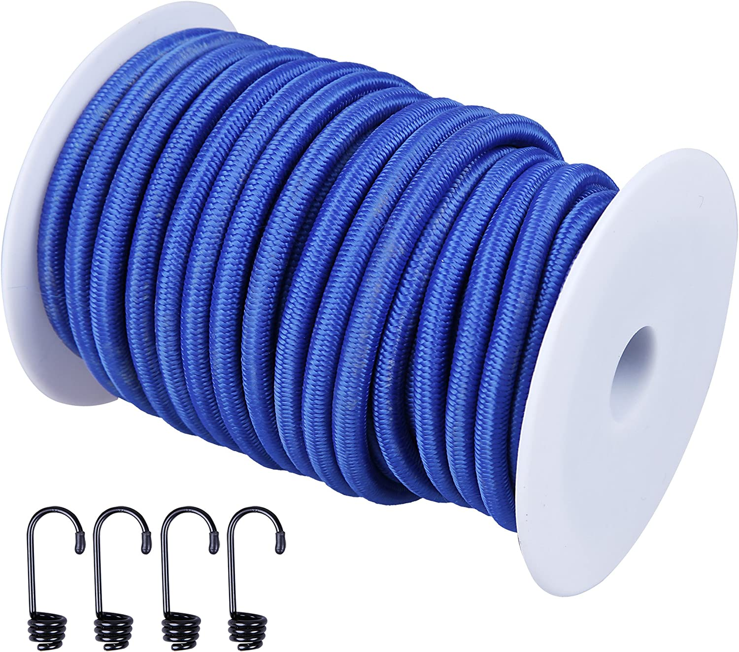 """40kg x 50ft with 4 More CARTMAN 1//4/"""" Elastic Cord Crafting Stretch String with"""