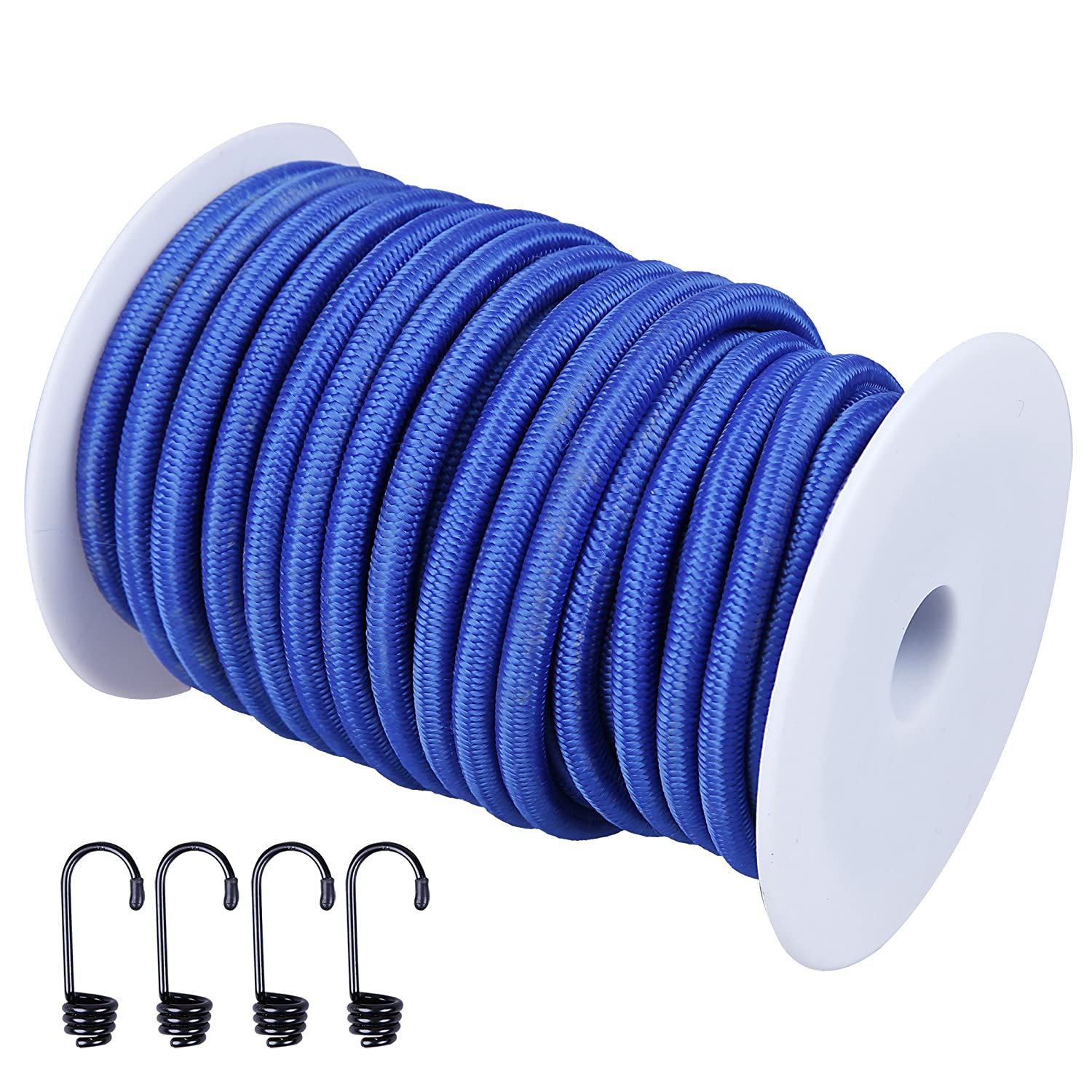 Blue Bungee Shock Rope Rolls of 8mm  Elastic Cord  colour   White Green