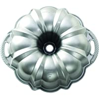 Nordic Ware 50037 Platinum Collection Anniversary Bundt Pan Silver