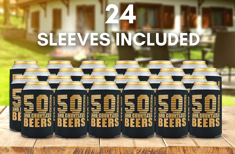 Amazon.com: Paquete de 12 enfriadores de latas de 50 ...