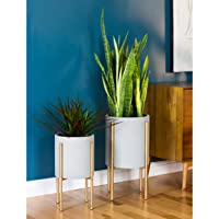 Overstock.com deals on Nabila Mid Century Planters Set of 2