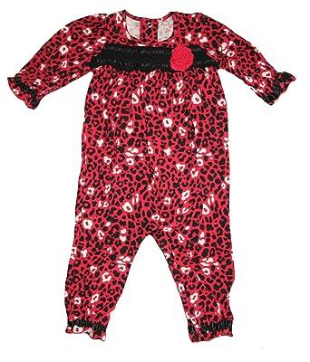 5398637fd05a Amazon.com  Okie Dokie Baby Girls  1 Piece Animal Print Romper  Clothing