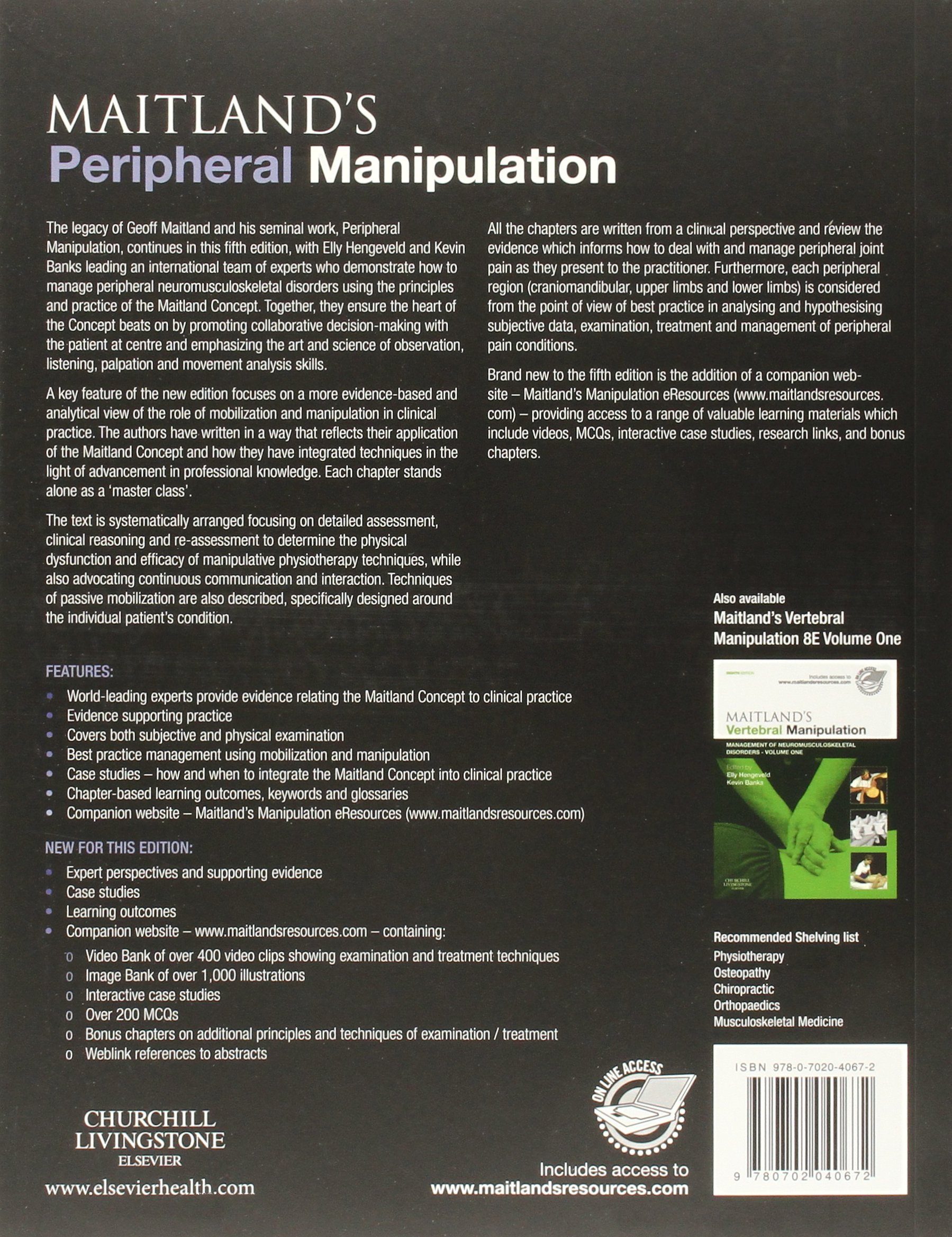 Buy maitland s peripheral manipulation management of neuromusculoskeletal disorders volume 2 5e book online at low prices in india maitland s