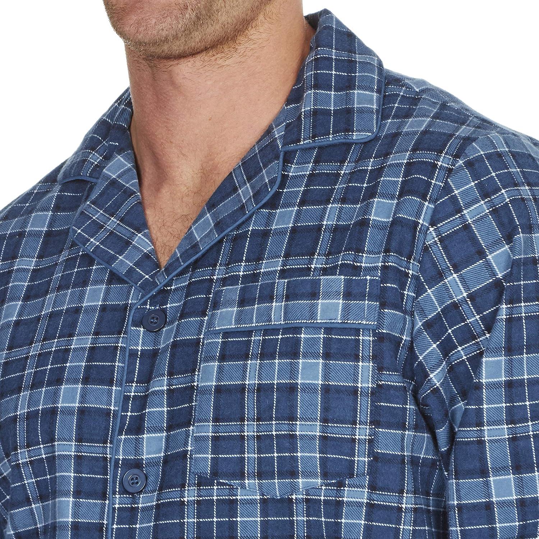 INSIGNIA Mens Reactive Dye Flannel Pyjamas 100/% Cotton