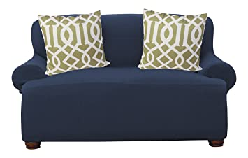 Exceptionnel Kashi Home Dublin Popcorn Stretch Sofa Slipcover Protector, Blue