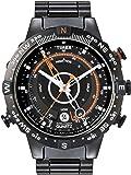 Timex Men's T2N723 Intelligent Quartz Adventure Series Tide Temp Compass Black IP Bracelet Watch