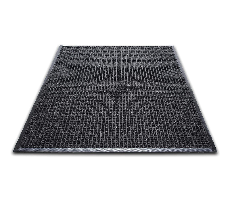 Guardian WaterGuard Indoor/Outdoor Wiper Scraper Floor Mat, Rubber/Nylon, 3'x5', Charcoal