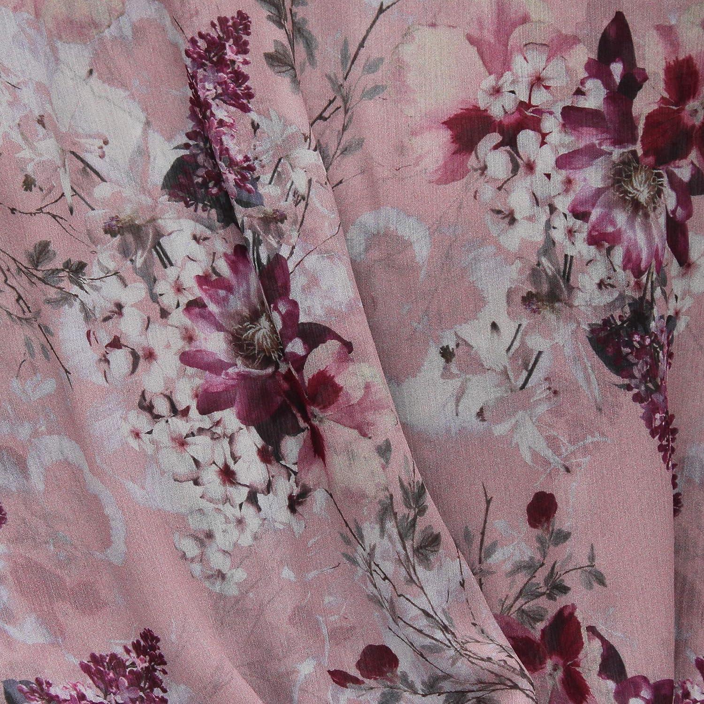 Blumen-Muster Loop-Schal Damen  GLITZER