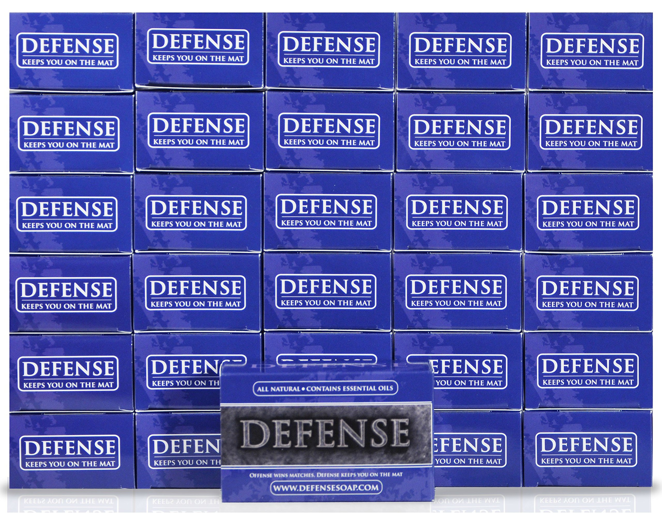 Defense Soap 4 Ounce Bar (Pack of 30) - 100% Natural and Herbal Pharmaceutical Grade Tea Tree Oil and Eucalyptus Oil Helps Wash Away Ringworm, Jock Itch, Dry Skin, Dandruff, Acne, Psoriasis, Yeast, and Athlete's Foot