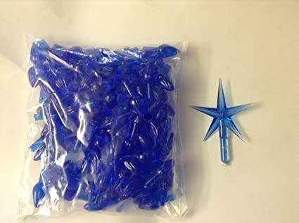 100 Blue Ceramic Christmas Tree Lights And Blue Star