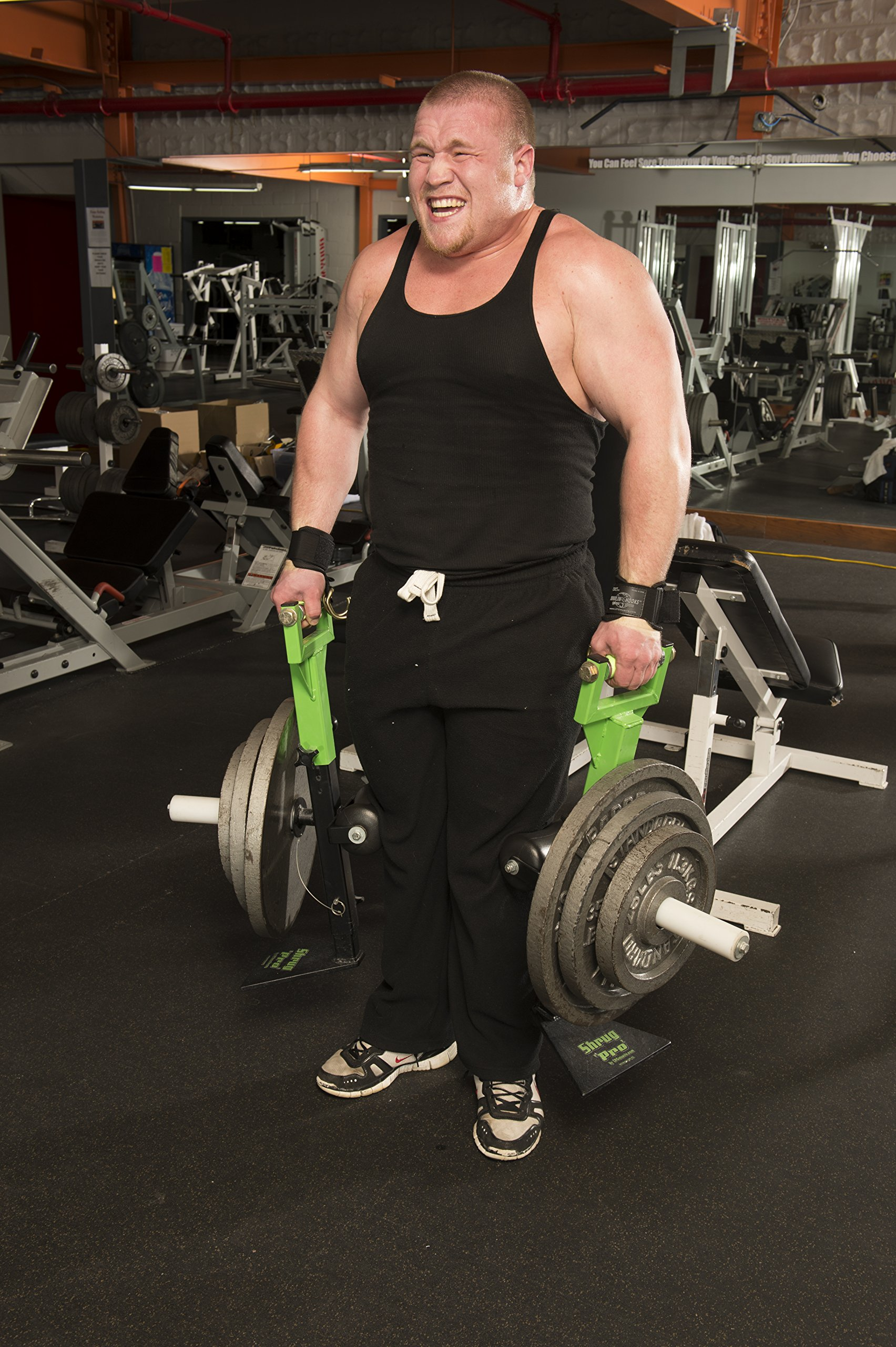 USA MADE PATENTED COMBO. use Bodybuilding Hooks or Powerlifer Straps! 1250# Strong