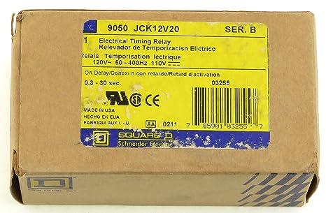 Amazon.com: 9050jck12 V20 Square D temporizador Timer Relay ...