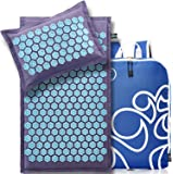 New Version Professional Acupressure Mat and Pillow Set Natural Linen – Best Acupuncture Mat Gift – Back And Neck Pain…