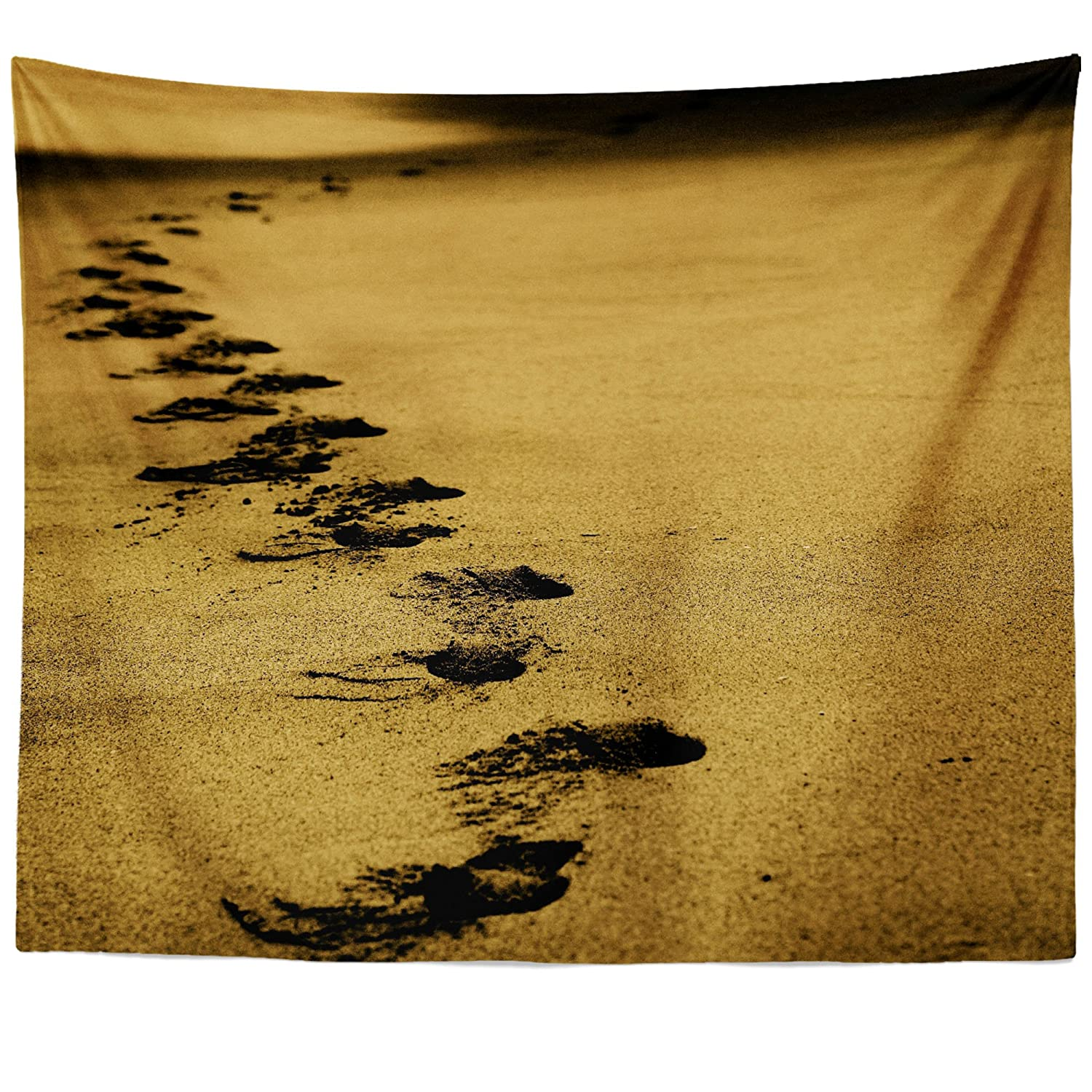 Modern Footprints In The Sand Wall Art Photos - The Wall Art ...