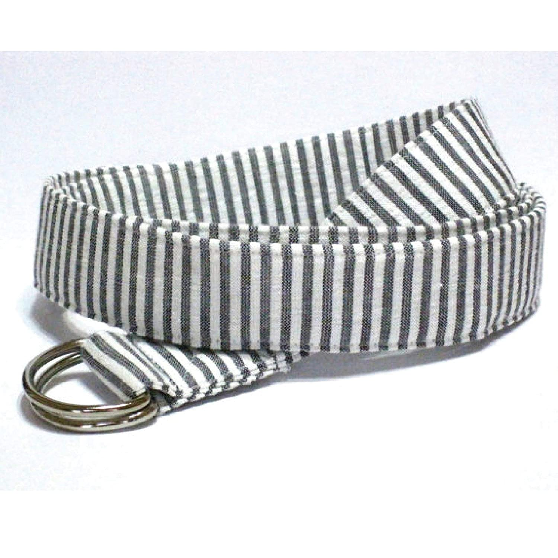 Womens Fabric Belt/Grey Seersucker Belt/Preppy Belt Grey Seersucker D-Ring Belt Striped Fabric Belt Nautical Cloth Belt in 3 widths - Seersucker