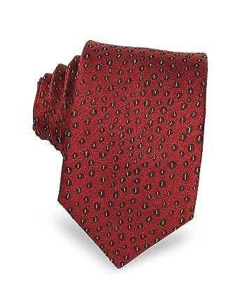 ordine design di qualità consistenza netta Lanvin Homme 30042 Rouge Soie Cravate: Amazon.fr: Vêtements ...