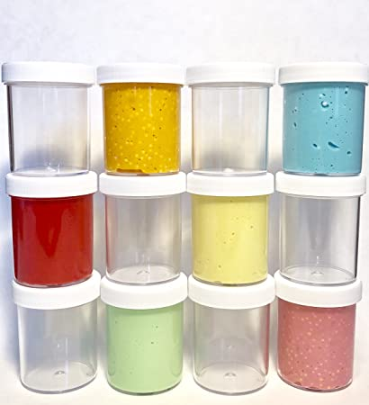 Beau Slime Storage Jars 4 Oz   (available In 8 And 15 Packs)   Clear