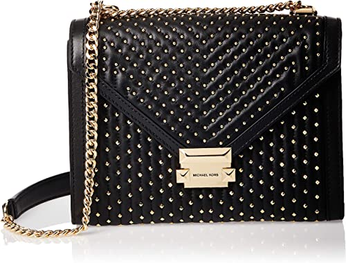 Michael Kors Whitney Large Studded Leather Conv Shoulder Bag