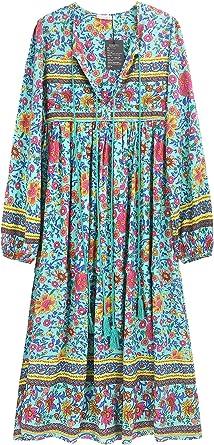 Vintage powder blue RUFFLED FLORAL print long sleeved blouse M SALE