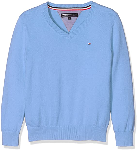purchase cheap 393b8 ccbb8 Tommy Hilfiger AME Tommy VN Sweater L/S Felpa, Blu (Vista ...
