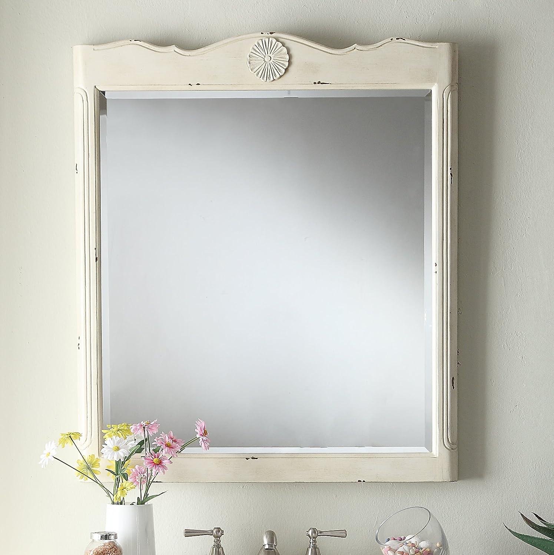 Daleville 34 inch vanity hf081wp distressed cream - 34 Cottage Look Daleville Bathroom Sink Vanity Model Hf081wp Distressed Cream Amazon Com