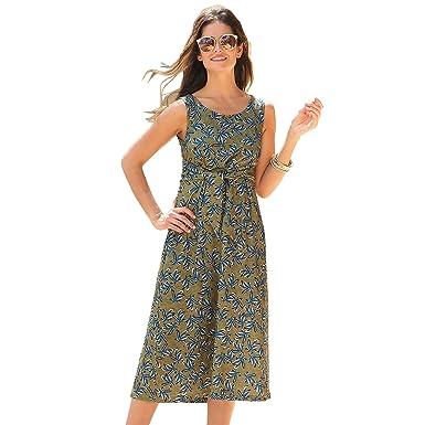 VENCA Vestido estampado escote redondeado by VencaStyle: Amazon.es: Ropa y accesorios