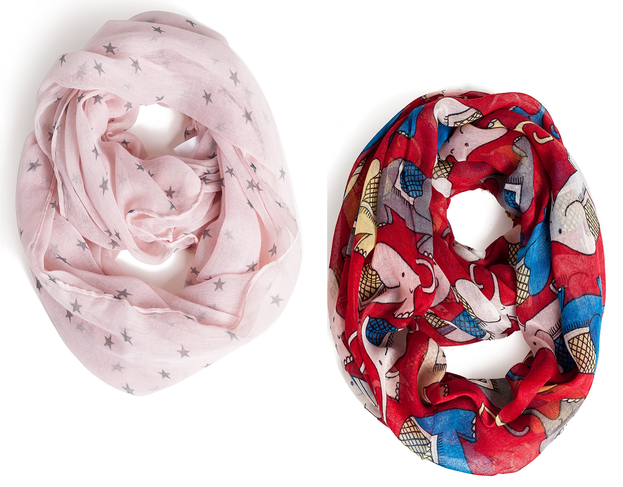 Kids Infinity Scarf Lightweight Toddler Girls Loop Scarves for Women Boys by A Sund (pair3)