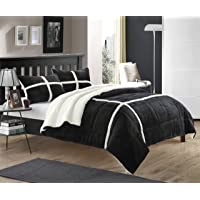 Chic Home 3 Piece Comforter Set Ultra Plush Micro Mink Sherpa Lined Bedding – Decorative Pillow Shams Included