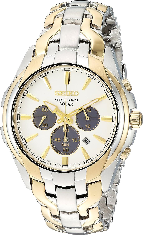 Seiko Men s Two Tone Solar Chronograph Watch
