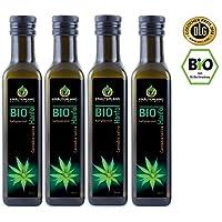 BIO Hanföl BIO-zertifiziert 1 Liter 4x 250 ml kaltgepresst 100% naturrein rein nativ Frischegarantie: mühlenfrisch direkt vom Hersteller Kräuterland Natur-Ölmühle Premium Qualität