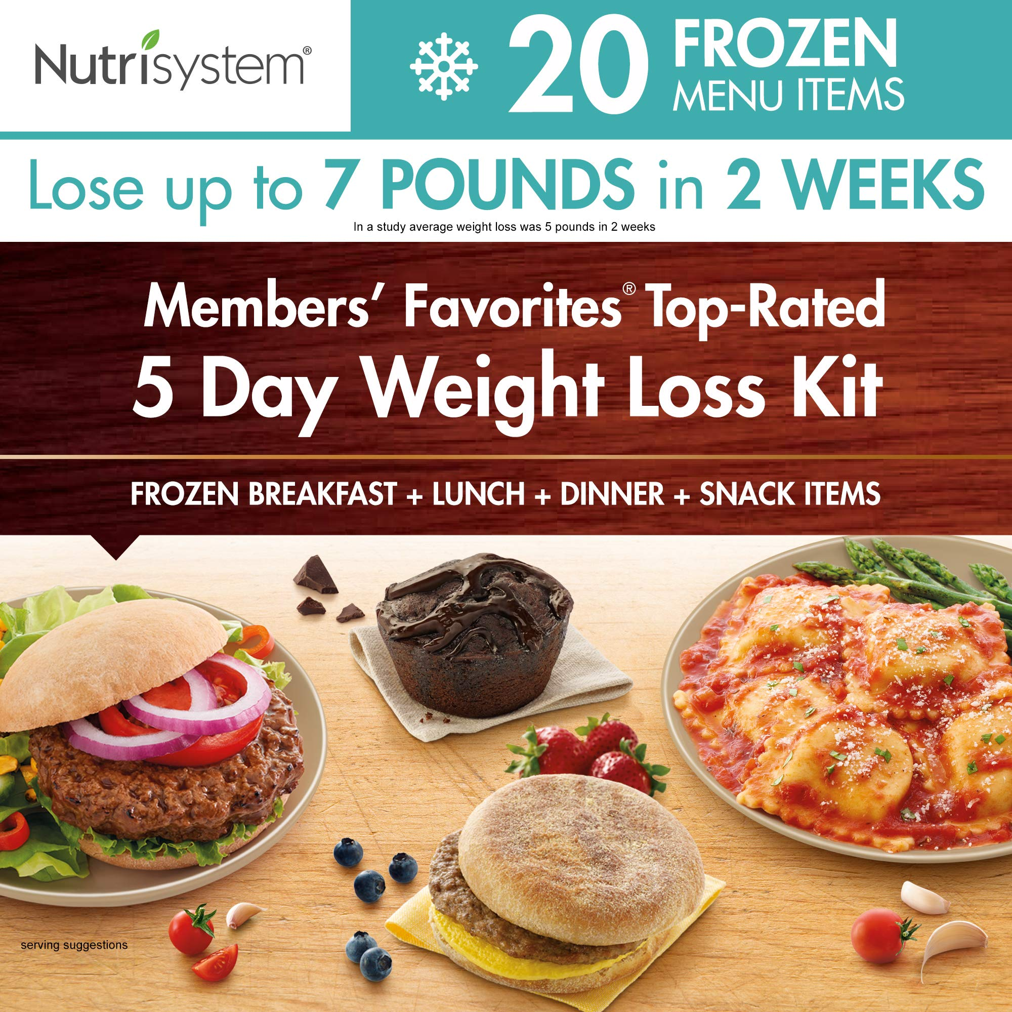 Nutrisystem® Members' Favorites®- TOP Rated, 5 Day Weight Loss Kit (Frozen) by Nutrisystem