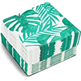 Tropical Leaf Paper Napkins for Hawaiian Luau Birthday Party (6.5 x 6.5 In, 150 Pack)