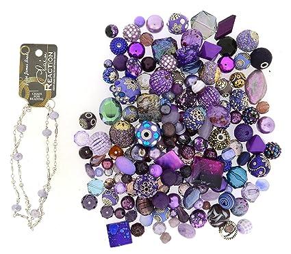 Amazon.com: Jesse James Beads 9231 Premium Púrpura Bead Mix ...