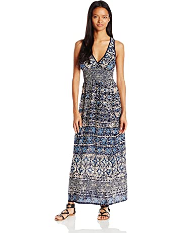31eb5bf53d Angie Women s Blue Printed Maxi Dress