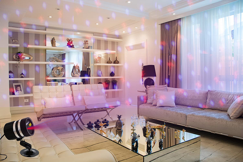 Luce Laser blu rosso di Natale per la decorazione di feste all& ...