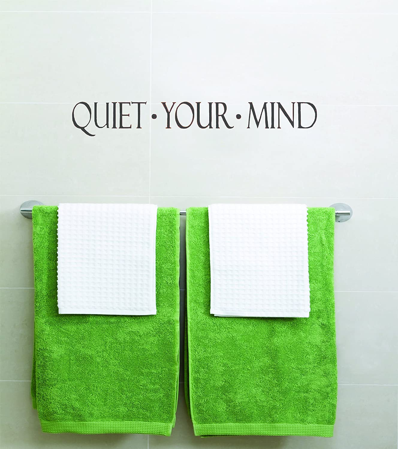 Design with Vinyl Quiet Your Mind Inspirational Life Quotes - Picture Art - Peel & Stick Vinyl Wall Decal Sticker Size : 6x30 Color : Black Black by Design with Vinyl B00H1YNOXS