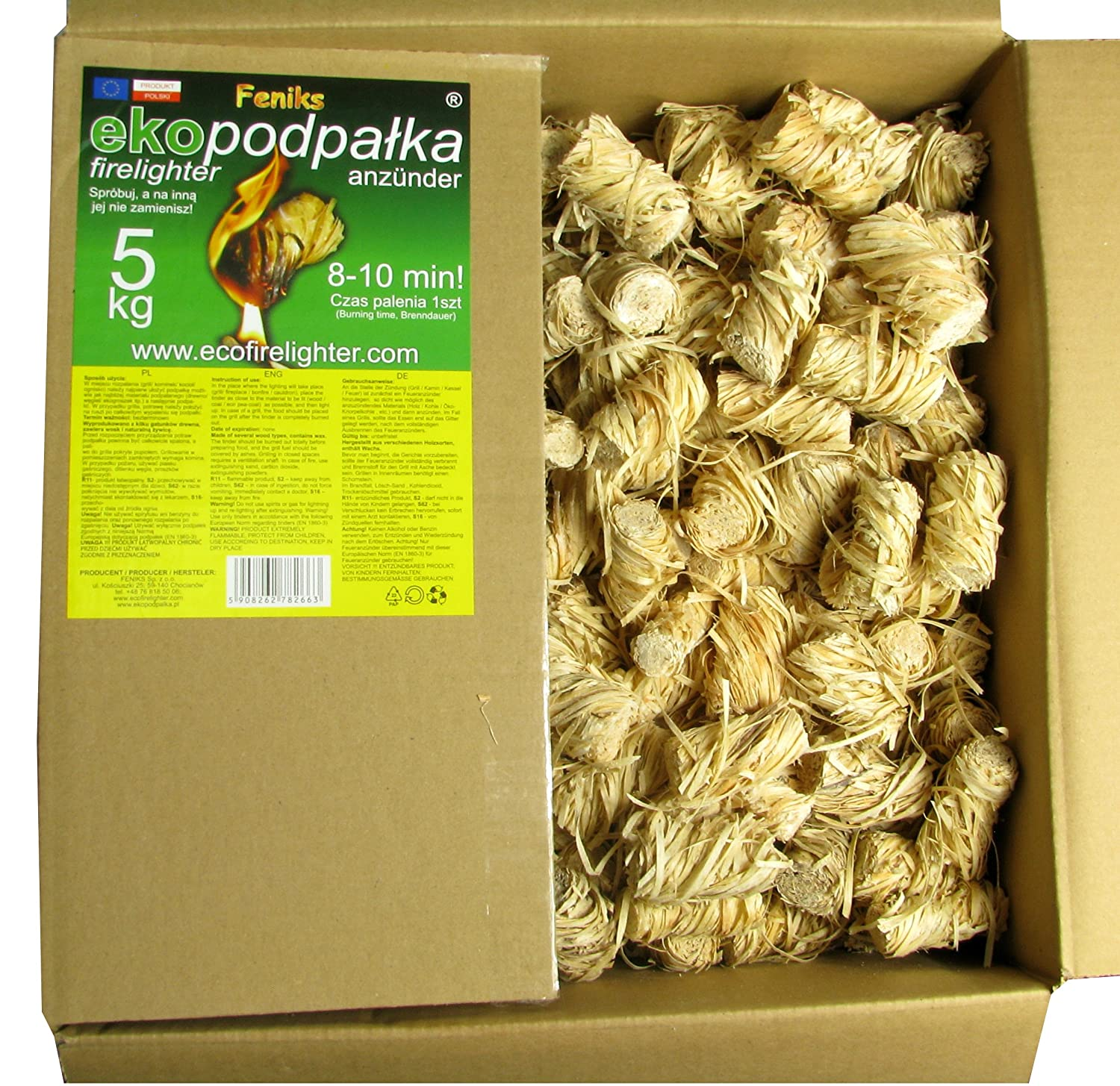 feniks firelighters 500pcs in the box for fireplace stoves