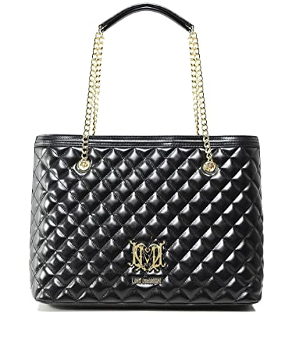 Moschino Love Moschino Women s Quilted Logo Shopper Bag One Size Black 7dc371177164e