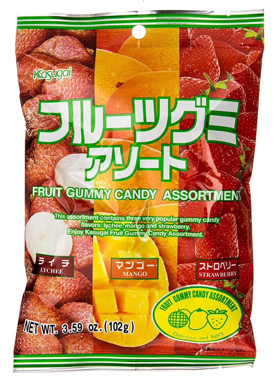 Kasugai Gummy Candy, Fruit Assortment, 3.59 Ounce