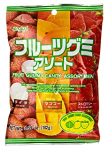 Kasugai Gummy Candy, Fruit Assortment, 3.59 Ounce